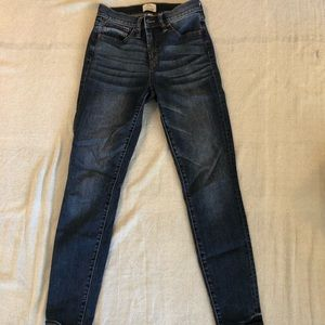 """Jcrew 9""""high rise toothpick jeans size 26"""